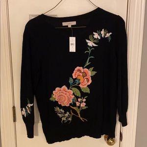 Flowery LOFT sweater